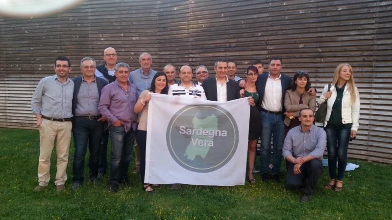 Presentazione lista Sardegna Vera - foto di gruppo